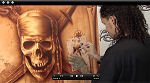 Monochromatic Pirate Themed Canvas w/ Cory Saint Clair