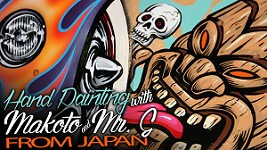 Kustom Kulture Hand Painting with Makoto & Mr. G of Japan