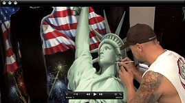 Statue of Liberty Mural w/ Ryno